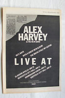 1980 - ALEX HARVEY The Mafia Stole My Guitar + UK Tour - Press Advert Poster