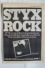 1980 - STYX - Cornerstone - Press Advertisment - Poster Size