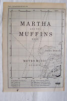 1980 - MARTHA & THE MUFFINS - Metro Music + UK Tour - Press Advert - Poster Size