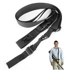 Tactical Army 3 Three Point Adjustable Bungee Rifle Gun Sling System Black Strap