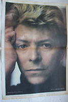 DAVID BOWIE - 1983 Double Page Music Press Poster + Interview/Article On Reverse