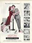 1957 MOVIE PRINT AD - Designing Woman Gregory Peck Lauren Bacall