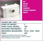 SANIFLO SANIPLUS TOILET WASTE WATER PUMP MACERATOR