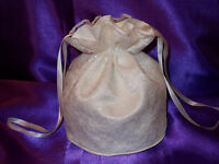 BNWOT Ivory duchess satin and lace dolly bag