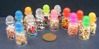 1:12 Scale Single Glass Jar Of Dolls House Miniature Mixed Sweets Shop Accessory