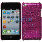 Purple Bling Hard Case COVER FOR APPLE IPOD TOUCH 4 4G