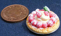 1:12 Scale Strawberry & Ice Cream Flan Dolls House Miniature Food Accessory D1