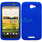 New Blue Silicone Cover Case For HTC ONE S ONES Z520E