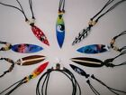 10 MIX DESIGN SURFBOARD & SHARK TOOTH NECKLACES SURFER SKATER BEACH / n142mix
