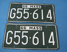 1966 Massachusetts License Plates matched pair