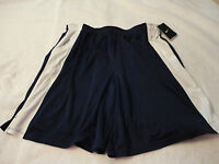 NIKE MEN'S NEW NAVY AND WHITE ATHLETIC SHORTS DRI-FIT SIZE XXL