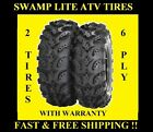PAIR (2) 25X11-10 INTERCO SWAMP LITE ATV TIRES , TWO NEW TIRES TO YOUR DOOR FREE