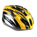 Cycling Bicycle Adult Bike Handsome Carbon Helmet with Visor Yellow + Black