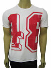 Mens Puma T-Shirt Top Red 48 Print - White Size XS to XXL A41