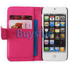 Hot Pink Stylish Card Slot Wallet Leather Case Cover For Apple iPhone 5 5G
