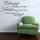 """everyone bring joy"" stickers wall Quote Removable Art Vinyl Decor Home Au decal"