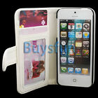 White Stylish Card Slot Wallet Leather Cover Case For Apple iPhone 5 5G