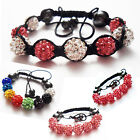Childrens Kids Shamballa Bracelet Crystal Disco Ball Handmade Gift Child