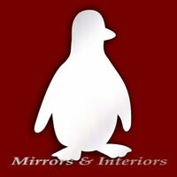 Personalised PENGUIN Acrylic Mirror CHRISTMAS * Present * Gift * Stocking filler