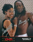 BOOKER T SHARMELL TNA SIGNED AUTOGRAPH 8X10 PROMO PHOTO W/ PROOF