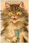 POSTCARD LOUIS WAIN CAT WITH SPECTACLES STROEFER PUBLISHED