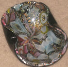 1950s MURANO Italian Glass TUTTI FRUTTI Silver Leaf Flecks Art Glass Bowl