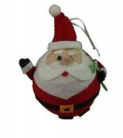 Gisela Graham Christmas Decoration Felt Ball Santa Fun Tree Decoration