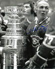 HENRI RICHARD MONTREAL CANADIANS HALL OF FAME AUTOGRAPHED 8X10 WITH STANLEY CUP