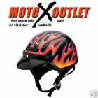 M2R Motorcycle Street Half Helmet FLAMES MEDIUM