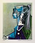 Pablo Picasso PORTRAIT OF SYLVETTE DAVID Estate Signed & Numbered Small Giclee