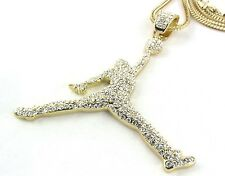 "ICED OUT AIR JORDAN 23 NBA PENDANT 30 -36"" FRANCO CHAIN NECKLACE JUMPMAN MICHAEL"