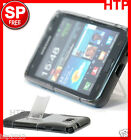 Grey Samsung Galaxy S2 SII i9100 Stand TPU Hard Back Case Cover+Screen Protector