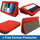 Red Leather Case for Samsung Galaxy Tab 2 7.0 P3100 P3110 3G Wifi Android Cover