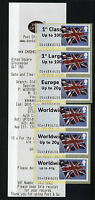 !ERRORS!  FLAGS LARGE FONT - Post & Go GLOUCESTER  COLLECTOR STRIP  OF 6