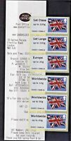 FLAGS! - Post & Go SWISS COTTAGE  - COLLECTOR STRIP  OF 6 - SCARCE OFFICE