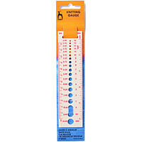 PONY KNITTER'S KNITTING NEEDLE GAUGE & RULER - SIZE 000 - 14 IMPERIAL  2 TO 10MM