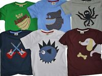 Mini Boden Applique Short Sleeved T-shirt Top Best Fit 5-6 (wrong size on label)