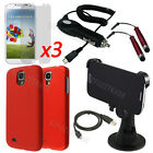 10item Hard Case Mount Holder Car Charger Film Cover For Samsung Galaxy S4 i9500