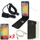 8-1 Leather Case Hard Cover Car Charger Film Skin For Samsung Galaxy Note3 N9000