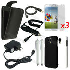 11item Leather Case Hard Cover Car Wall Charger Film For Samsung Galaxy S4 i9500