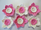 10 EDIBLE CAKE TOPPERS CUPCAKE DECORATIONS WEDDING 21ST BIRTHDAY PARTY FLOWERS