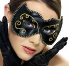 BLACK & GOLD PERSIAN STYLE MASK - VENETIAN MASQUERADE PROM BALL - FANCY DRESS