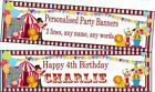 Personalised Party Banners CIRCUS Design decorations for Birthdays, Childs Kids