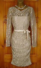 RRP £130 NEW EXCHAINSTORE OYSTER CREAM LACE VINTAGE STYLE PARTY COCKTAIL DRESS
