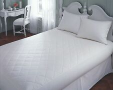 "EXTRA DEEP 16"" ( 40cm ) QUILTED FITTED MATTRESS PROTECTOR BED COVER All UK SIZE"