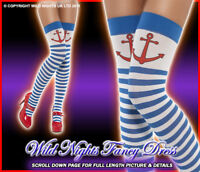 FANCY DRESS ACCESSORIES # BLUE / WHITE ANCHOR STOCKINGS
