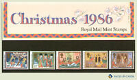 1986 Christmas Stamps in Presentation Pack PP152 (printed no.176) - Royal Mail