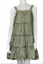 NEW GAP / Old Navy Womens Tiered Oversized Summer Swing Dress, Green