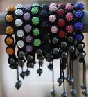 1pc 10 colors Bracelet Pave 10mm Shiny Crystal Disco Ball Hematite Beads