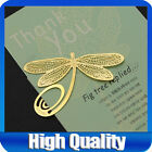 New Dragonfly Golden Metal Clip Bookmark Book Mark Reading Charms Xmas Warm Gift